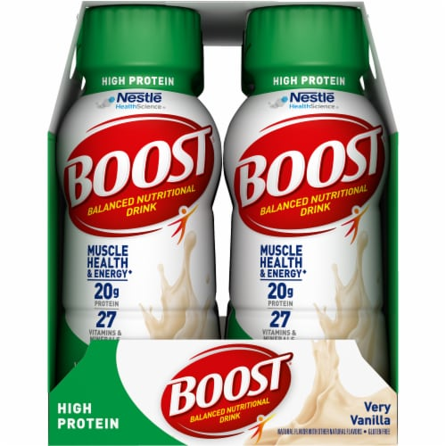 Boost High Protein Very Vanilla Balanced Nutritional Drink Perspective: left