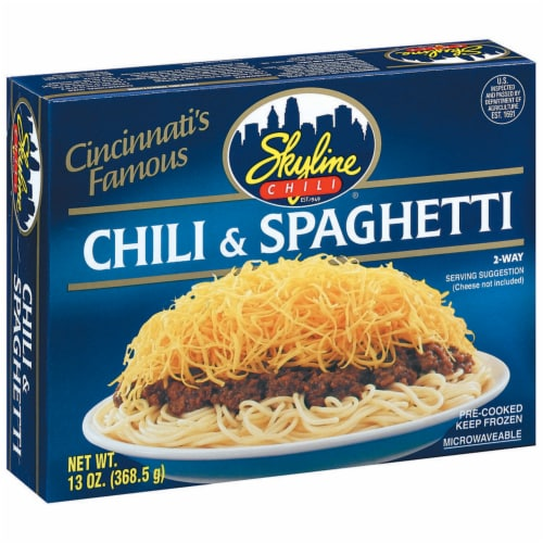 Skyline Chili Spaghetti Perspective: left