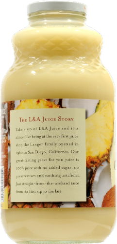 L&A Pineapple Coconut Juice Perspective: left