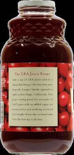 L&A Cranberry Juice Perspective: left