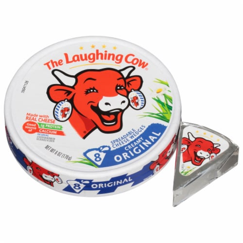 The Laughing Cow Original Creamy Swiss Spreadable Cheese Wedges Perspective: left