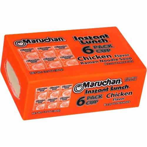 Maruchan Instant Lunch Chicken Flavor Ramen Noodle Soup 6 Count Perspective: left
