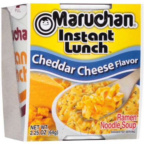 Maruchan Instant Lunch Chedder Cheese Flavor Ramen Noodle Soup Perspective: left
