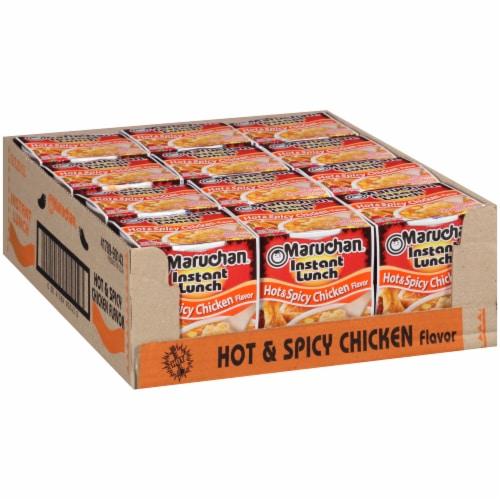 Maruchan Instant Lunch Hot & Spicy Chicken Flavor Ramen Noodle Soup 12 Count Perspective: left