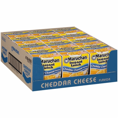 Maruchan® Instant Lunch™ Cheddar Cheese Flavor Ramen Noodle Soup Perspective: left
