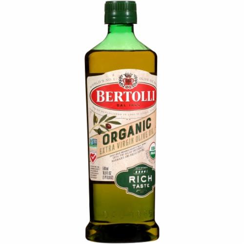 Bertolli Organic Rich Taste Extra Virgin Olive Oil Perspective: left