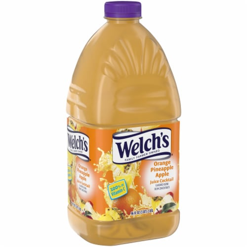 Welch's Orange Pineapple Apple Juice Cocktail Perspective: left