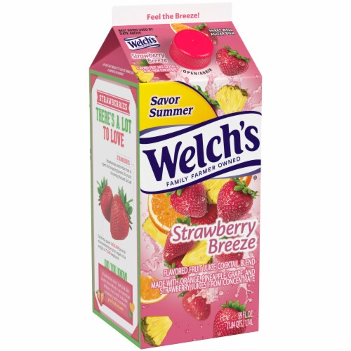 Welch's Strawberry Breeze Juice Cocktail Perspective: left