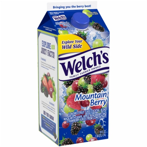 Welch's Mountain Berry Flavored Fruit Juice Cocktail Blend Perspective: left