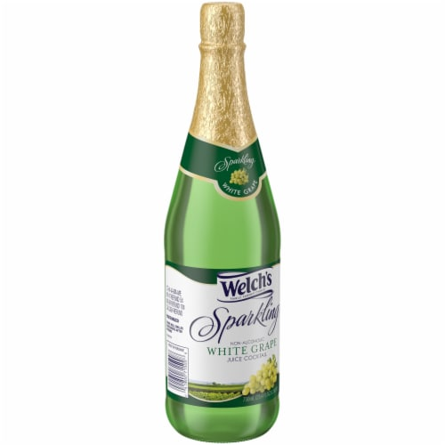 Welch's Sparkling Non-Alcoholic White Grape Juice Cocktail Perspective: left