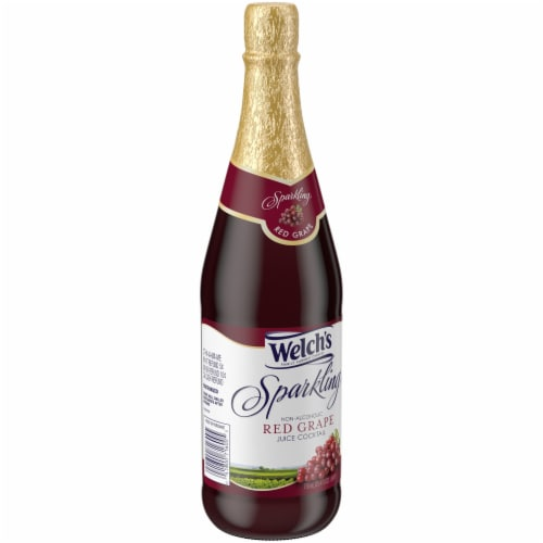 Welch's Sparkling Red Grape Non-Alcoholic Juice Cocktail Perspective: left