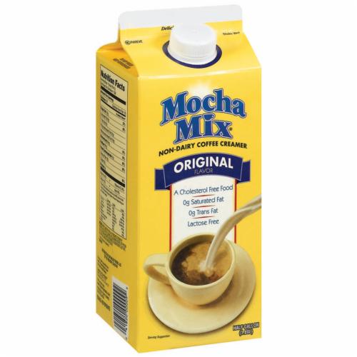 Mocha Mix Original Flavor Non Dairy Coffee Creamer Perspective: left