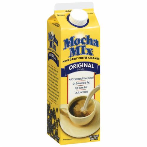 Mocha Mix Original Non-Dairy Liquid Coffee Creamer Perspective: left
