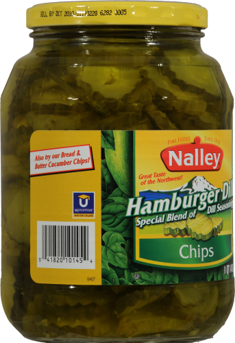 Nalley Hamburger Dill Chips Perspective: left