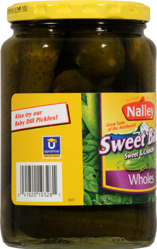 Nalley Sweet Baby Whole Pickles Perspective: left
