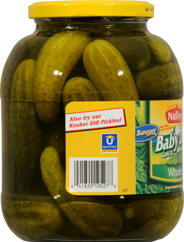 Nalley Whole Baby Dill Pickles Perspective: left