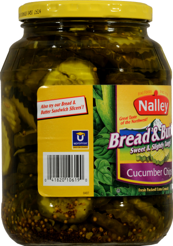 Nalley Bread & Butter Cucumber Chips Perspective: left