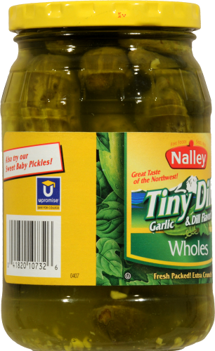 Nalley Tiny Whole Dill Pickles Perspective: left