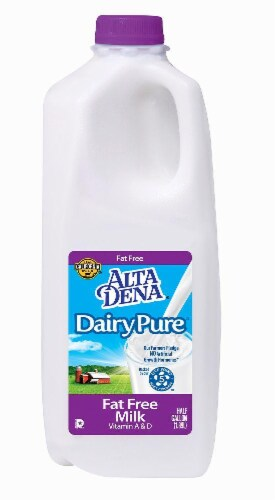 Dairy Pure Fat Free Skim Milk Perspective: left