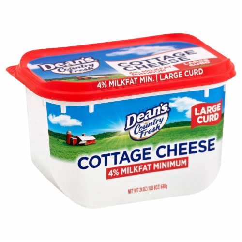 Dairy Pure Country Fresh 4% Milkfat Minimum Large Curd Cottage Cheese Perspective: left