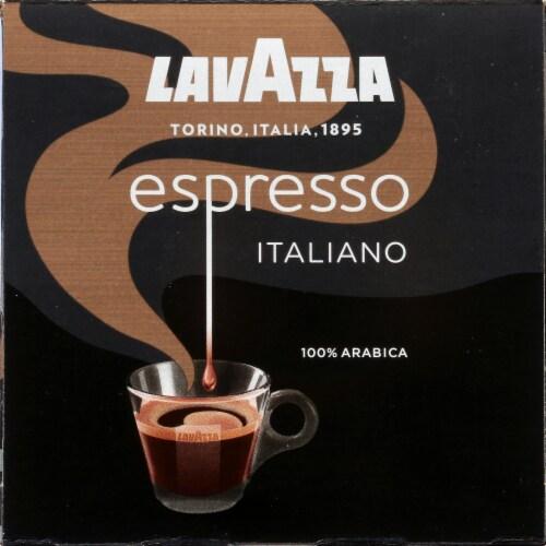 LavAzza Espresso Italiano Ground Coffee KCup Box Perspective: left