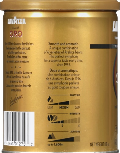 LavAzza Qualita Oro Perfect Symphony Ground Coffee Perspective: left