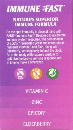 Zand® Naturals Sweet Elderberry Immune Fast Chewable Tablets Perspective: left