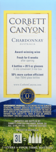 Corbett Canyon Chardonnay White Wine Perspective: left