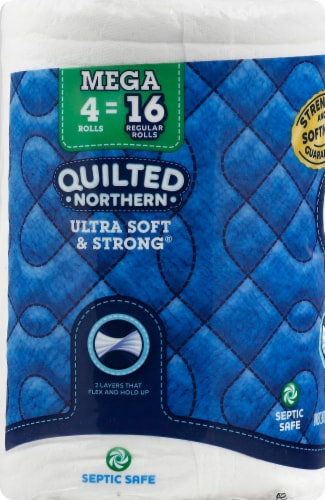 Quilted Northern Ultra Soft & Strong Bath Tissue 4 Mega Rolls Perspective: left