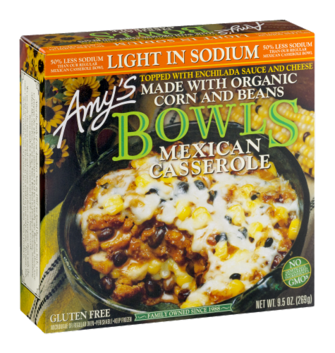 Amy's Organic Mexican Casserole Bowl Perspective: left
