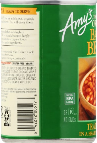 Amy's Organic Vegetarian Traditional Baked Beans Perspective: left