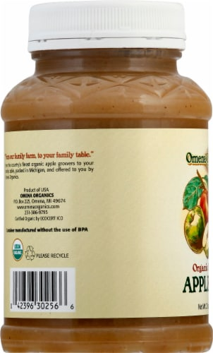 Omena Organics Unsweetened Applesauce Perspective: left
