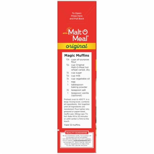 Malt-O-Meal Original Quick Cooking Hot Wheat Cereal Perspective: left