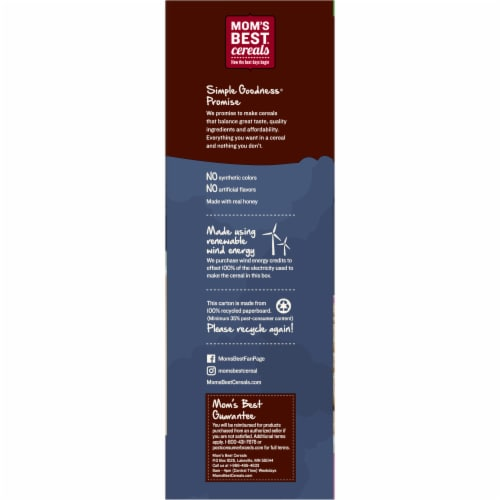 Mom's Best Honey Nut Toasty O's Cereal Perspective: left