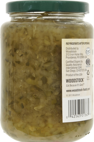 Woodstock Farms Organic Sweet Relish Perspective: left