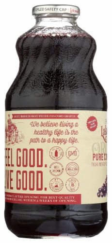 Lakewood Organic Pure Concord Grape Juice Perspective: left