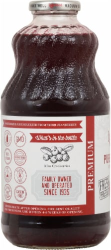 Lakewood Pure Cranberry Juice Perspective: left
