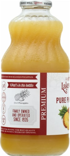 Lakewood Organic Pure Pineapple Juice Perspective: left