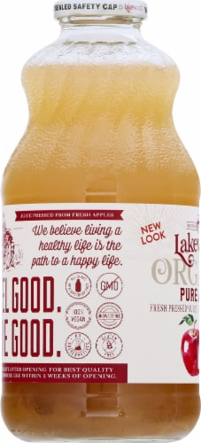 Lakewood Organic Pure Apple Juice Perspective: left
