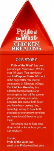 Pride of the West Chicken Breading Perspective: left