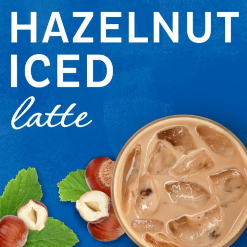 Maxwell House International Hazelnut Iced Latte Café-Style Beverage Mix Perspective: left