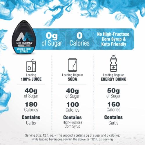 Mio Energy Wicked Blue Citrus Liquid Water Enhancer Perspective: left