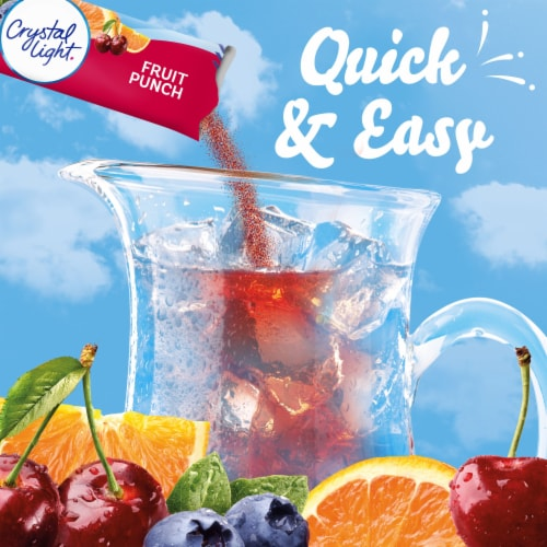 Crystal Light Fruit Punch Powdered Drink Mix Perspective: left