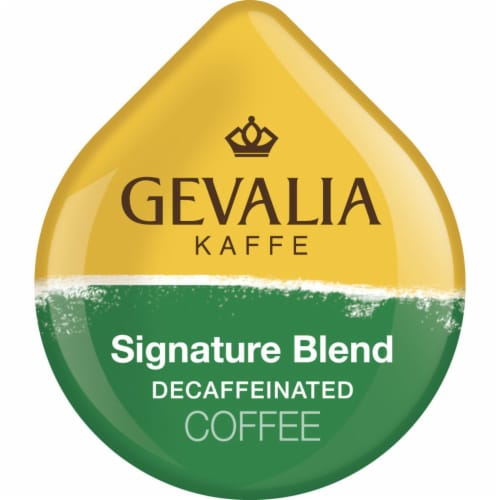 Tassimo Gevalia Kaffe Signature Blend Medium Roast Decaffeinated Coffee Discs Perspective: left