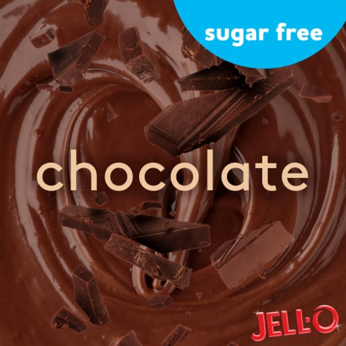Jell-O Ready-to-Eat Sugar Free Chocolate Pudding Snacks Perspective: left