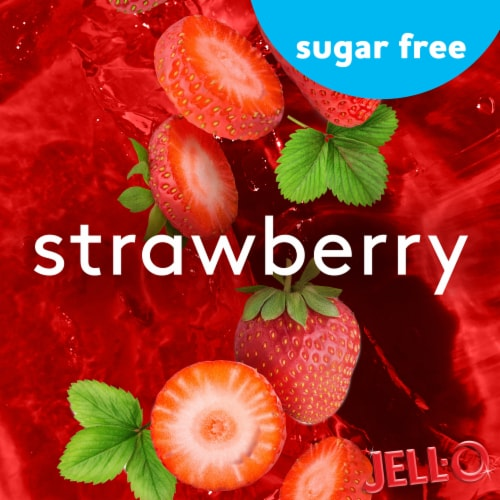 Jell-O® Sugar Free Strawberry Gelatin Snacks Perspective: left