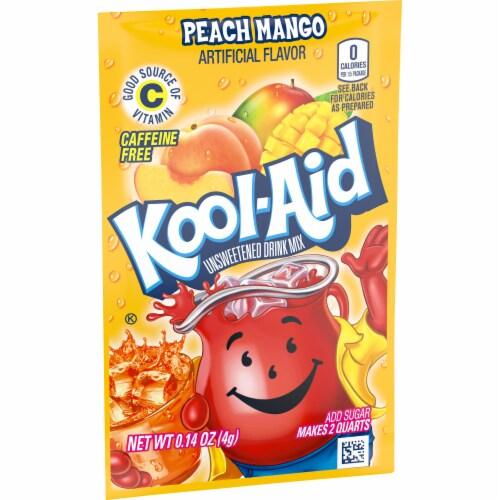 Kool-Aid Peach Mango Drink Mix Perspective: left
