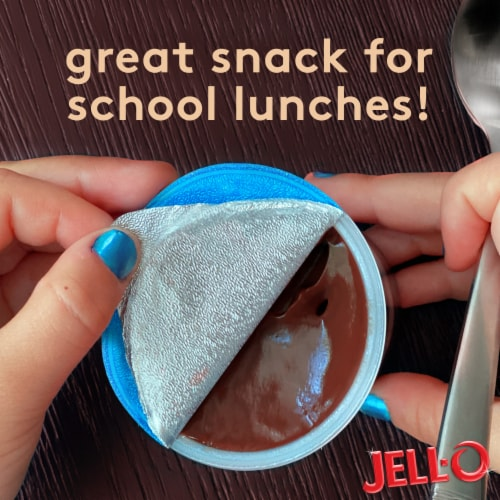 Jell-O Chocolate Vanilla Swirls Reduced Calorie Pudding Snacks Perspective: left