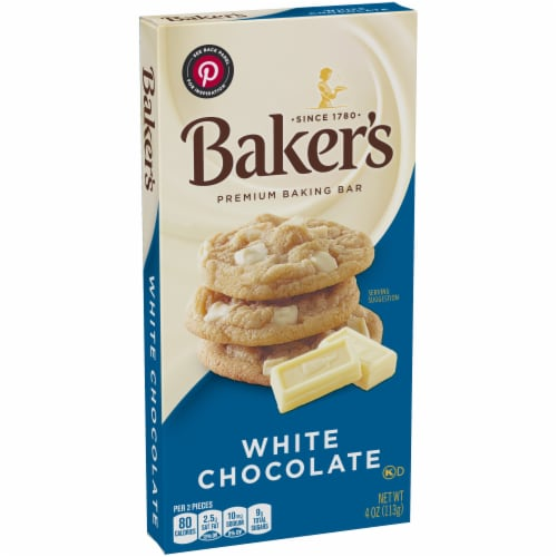 Baker's Premium White Chocolate Baking Bar Perspective: left