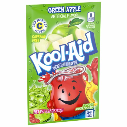 Kool-Aid Green Apple Unsweetened Drink Mix Perspective: left